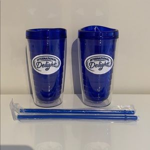 Brand New Double Walled Int'l Delight Tumblers